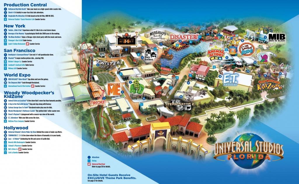 Universal Studios Florida Map - Universal Studios Orlando Park Map - Universal Florida Park Map