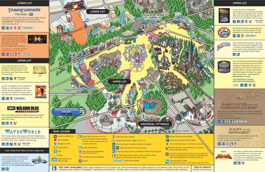 Universal Studios Los Angeles Map - Map Of Universal Studios Los - Universal Studios California Map