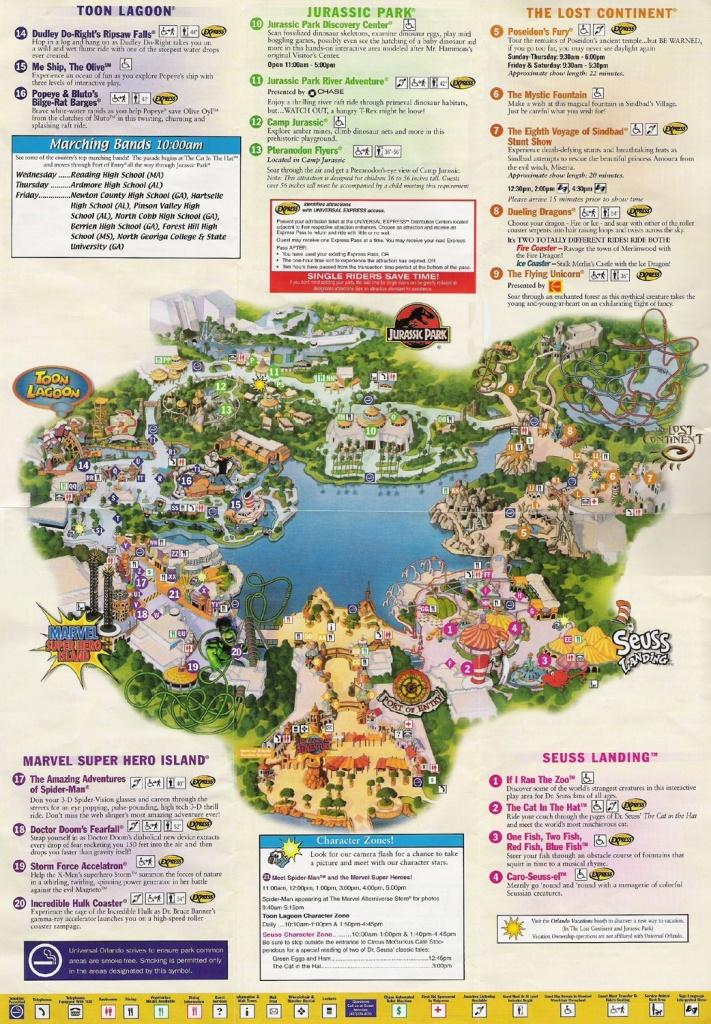Universal Studios Orlando Map Of Area   Universal Studios Guide Map - Printable Map Of Universal Studios Orlando