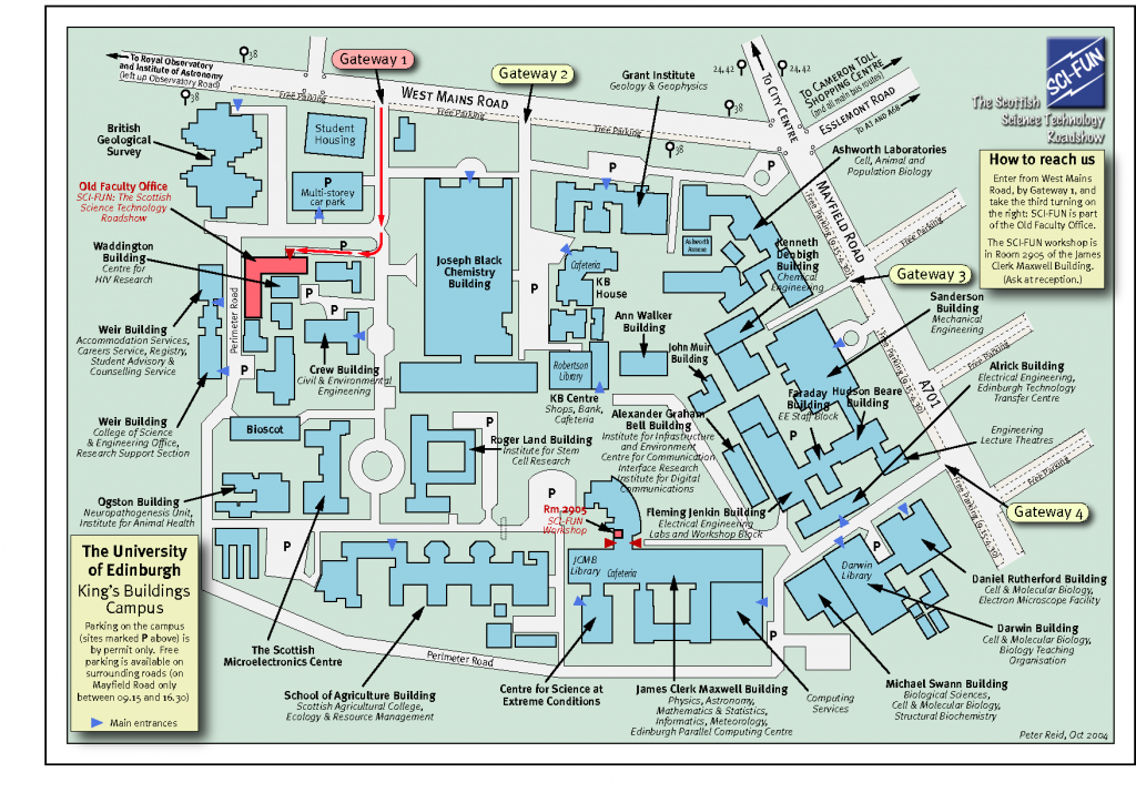 University Of Edinburgh King's Building Campus Map. | Hayley Study - South Texas College Mid Valley Campus Map