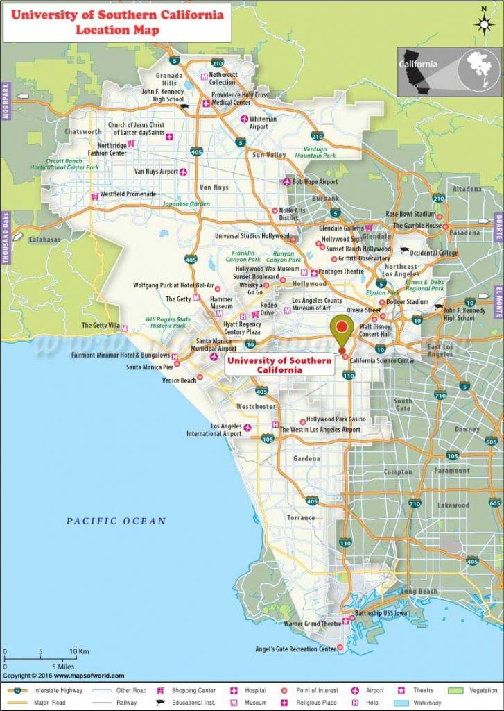 University Of Southern California (Usc), Los Angeles: Where Is - University Of Southern California Map