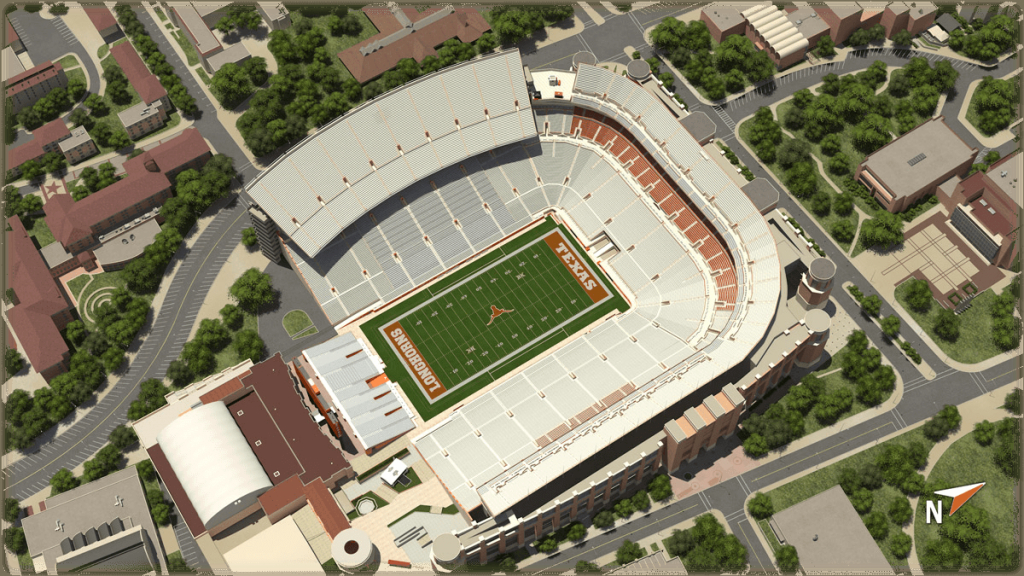 University Of Texas At Austin Football - University Of Texas Stadium Map