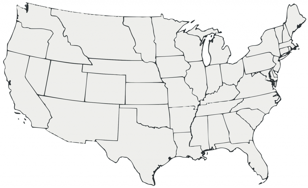 Unlabeled United States Map Us With Blank Simple Of New - Us Map Unlabeled Printable