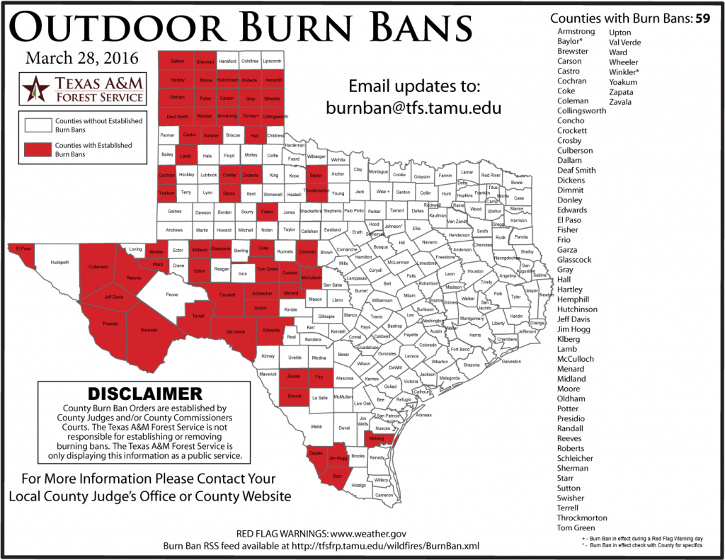 Updated Burn Ban Map For West Texas - West Texas Fires Map