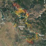 Updated Map Of Detwiler Fire Near Mariposa, Ca   Wednesday Afternoon   California Fire Map Google