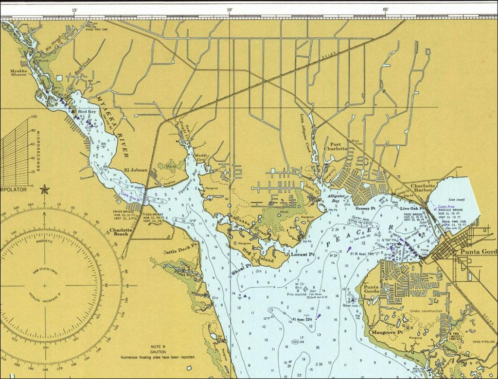 Upper Charlotte Harbor, 1977 - Charlotte Harbor Florida Map