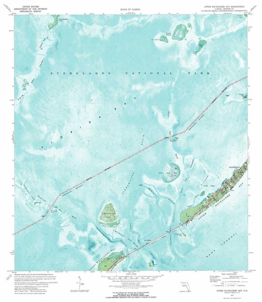 Upper Matecumbe Key Topographic Map, Fl - Usgs Topo Quad 24080H6 - Florida Keys Topographic Map