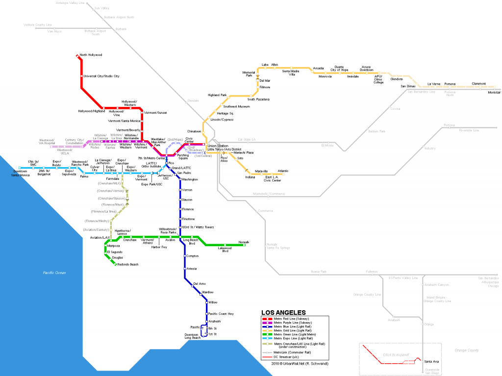 Urbanrail > America > Usa > California > Los Angeles - Metro - California Train Map