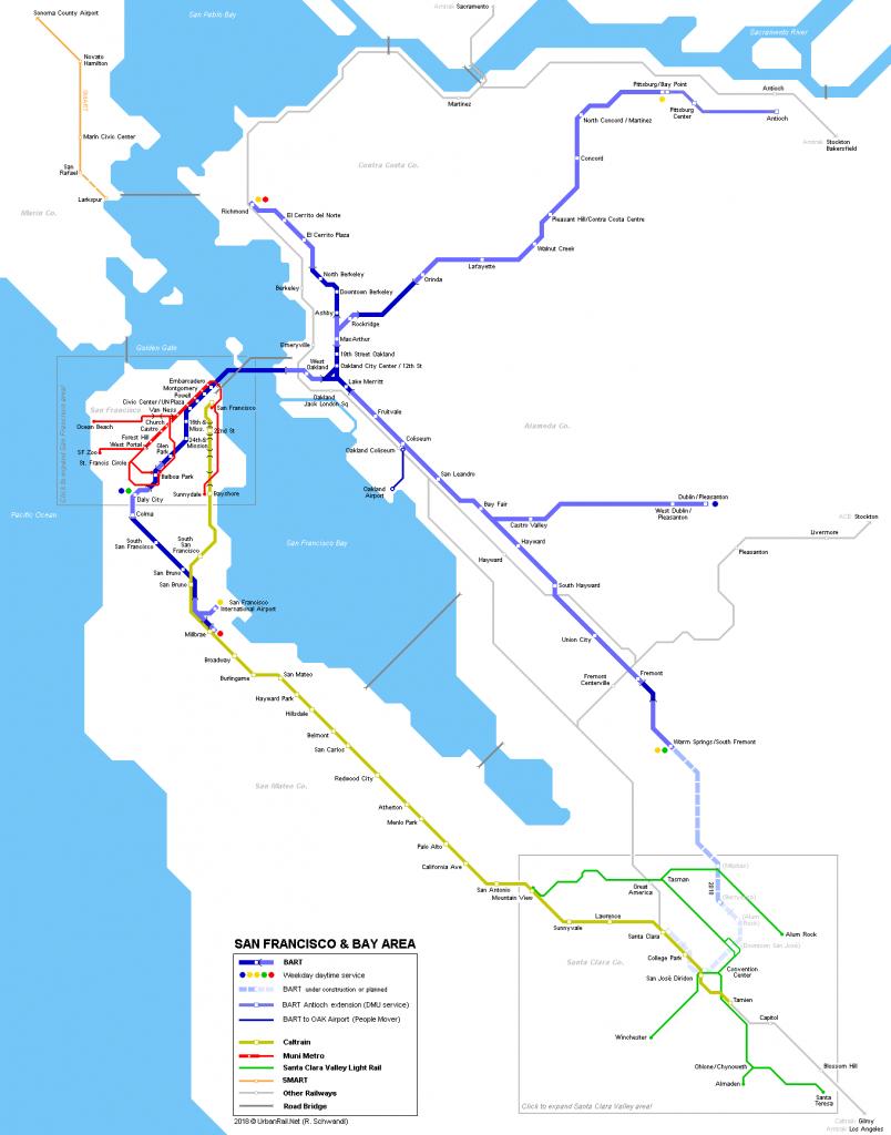 Urbanrail > North America > Usa > California > San Francisco - California Metro Map