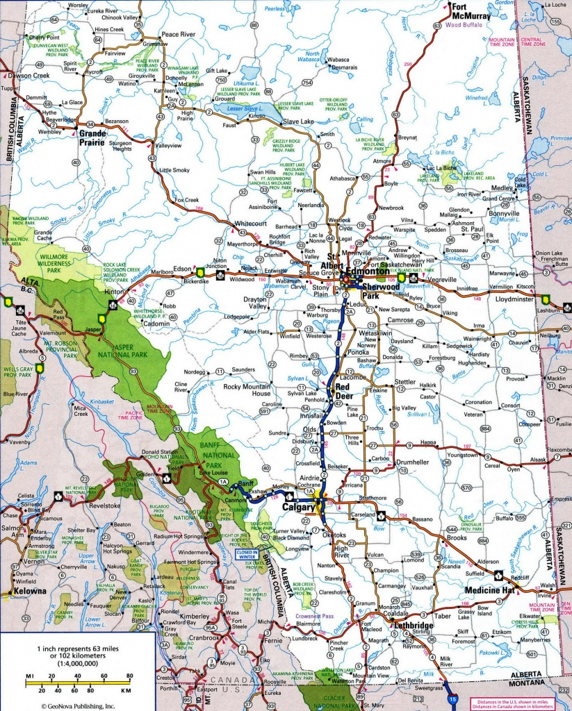 Us And Canada Road Map And Travel Information   Download Free Us And - Printable Road Map Of Canada