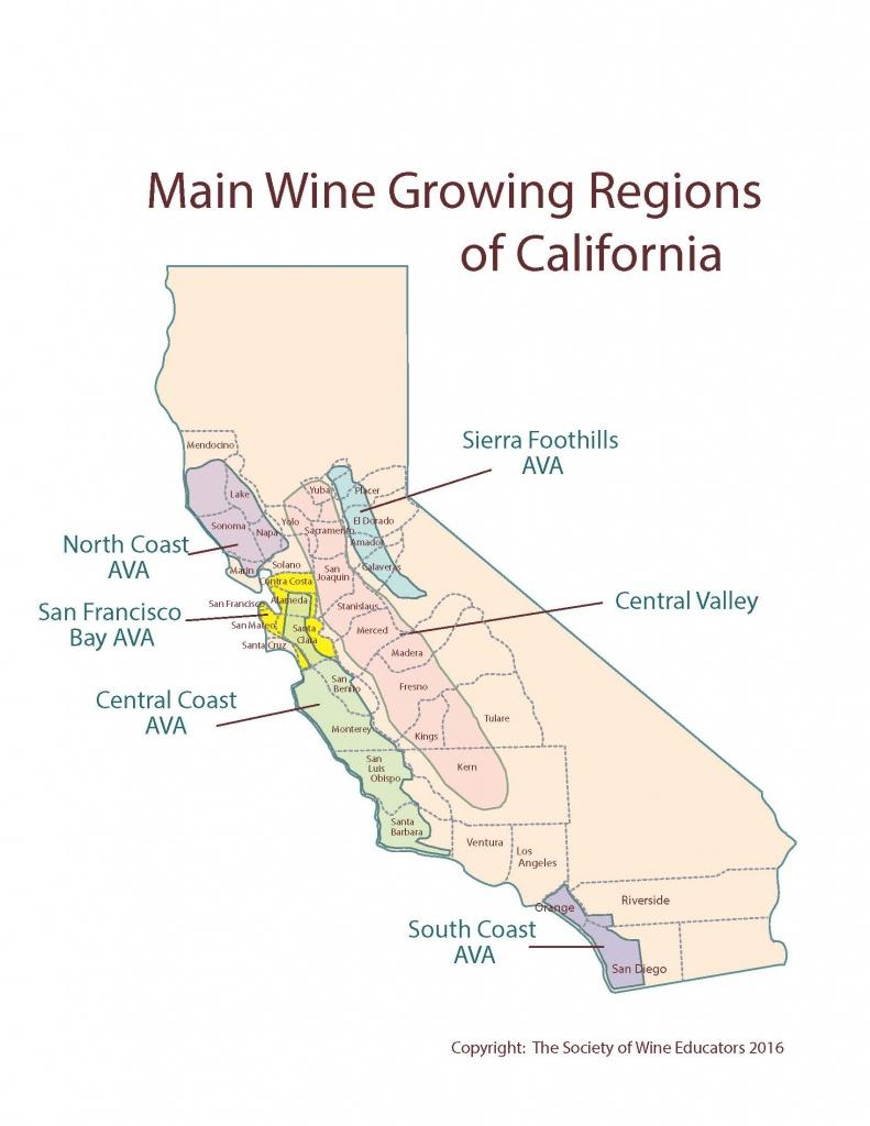Us—California: Swe Map 2018 – Wine, Wit, And Wisdom - Lodi California Map