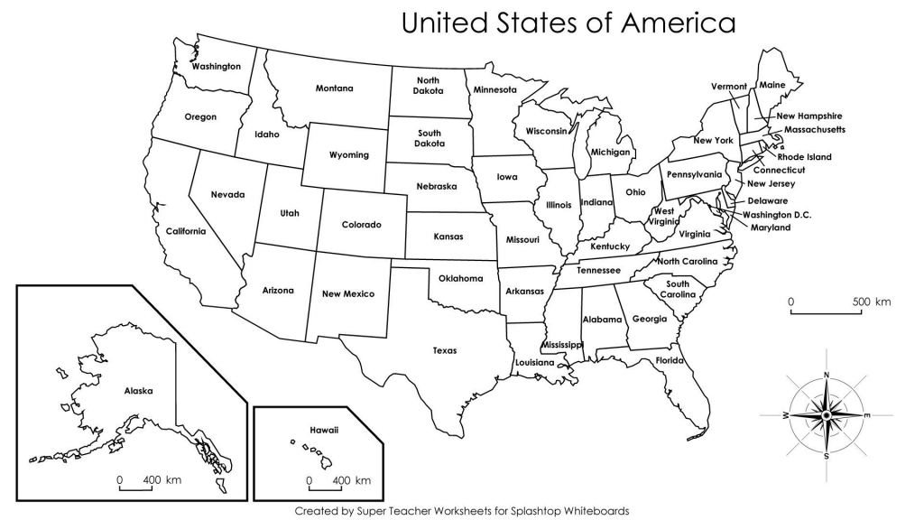Us Map Outline Worksheet Best Printable Us Map Full Page Map City - Printable Usa Map With Capitals