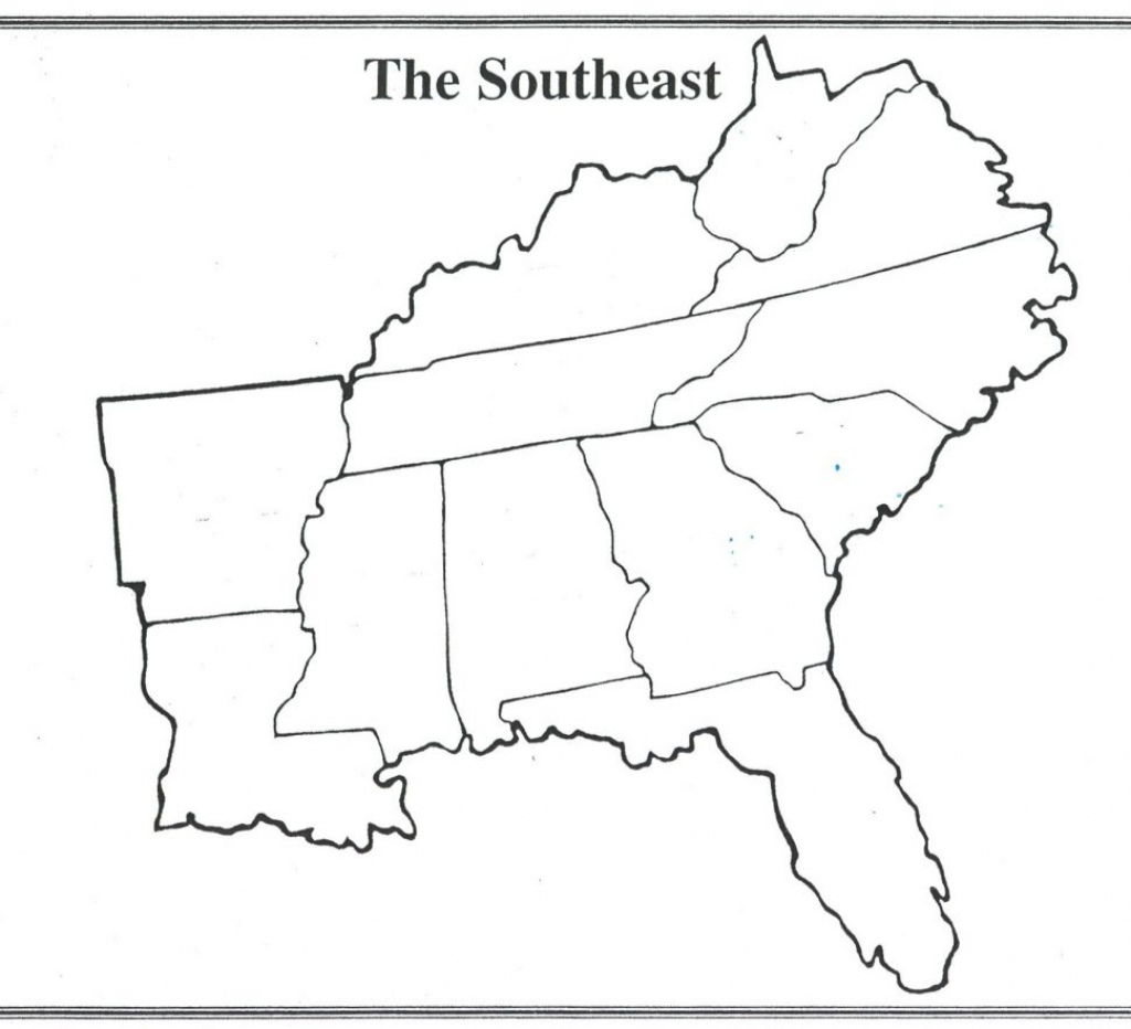 Us Map : Printable Map The Regions United States Them Amazing Region - Printable Map Of Southeast Us