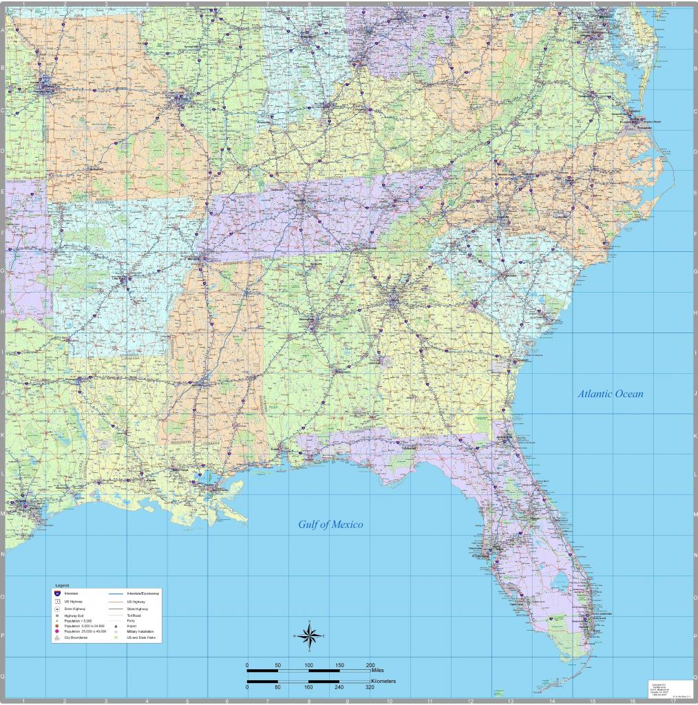 Us Map Southeast Printable Map Of Se Usa 1 Beautiful Us Map - Printable Map Of Southeast Us