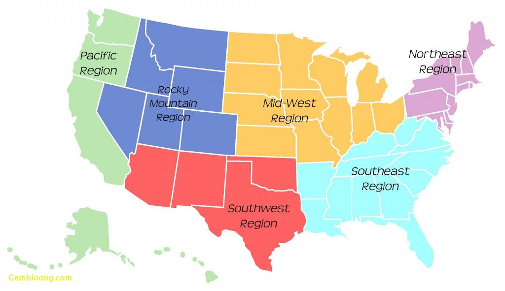 Us Map Southeast Printable Map Of Se Usa 1 Inspirational Us Regions - Southwest Region Map Printable