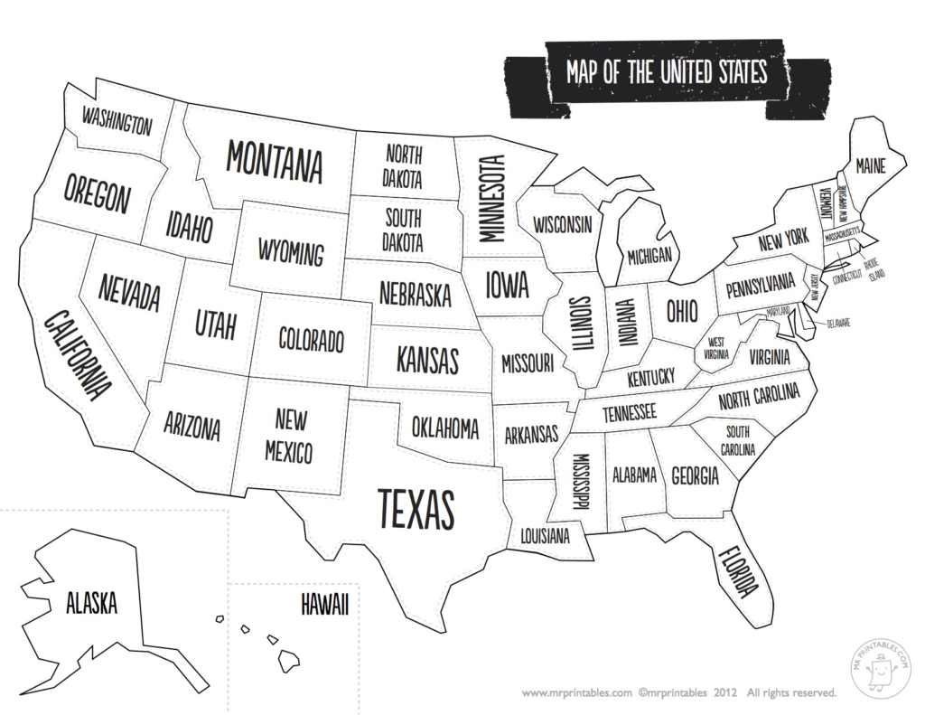 Us Map The South Printable Usa Map Print New Printable Blank Us - Printable Map Of The United States Without State Names