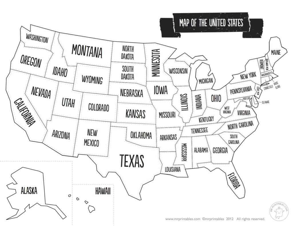 Us Map The South Printable Usa Map Print New Printable Blank Us - United States Map Of States Printable