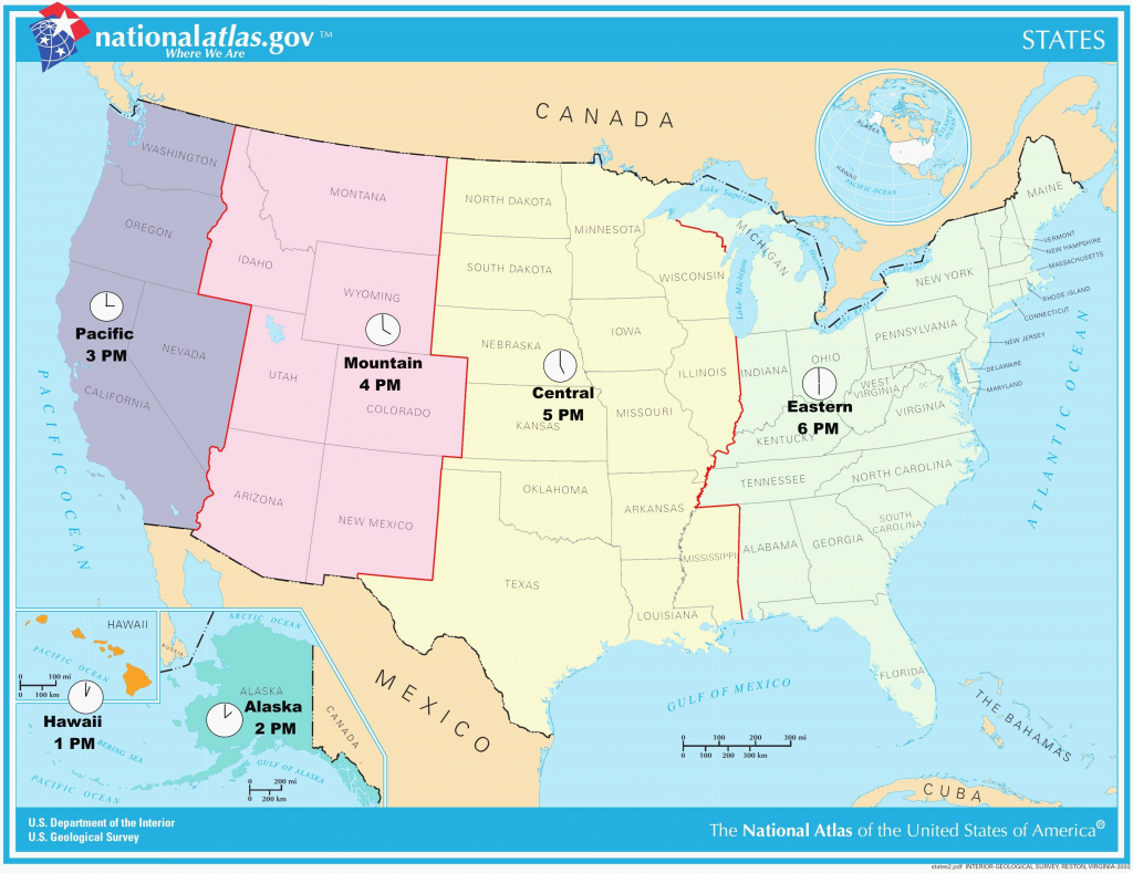 Us Map With Alaska And Hawaii Pix Usmap1 Best Of Best Printable - Us Time Zones Map States Name Printable