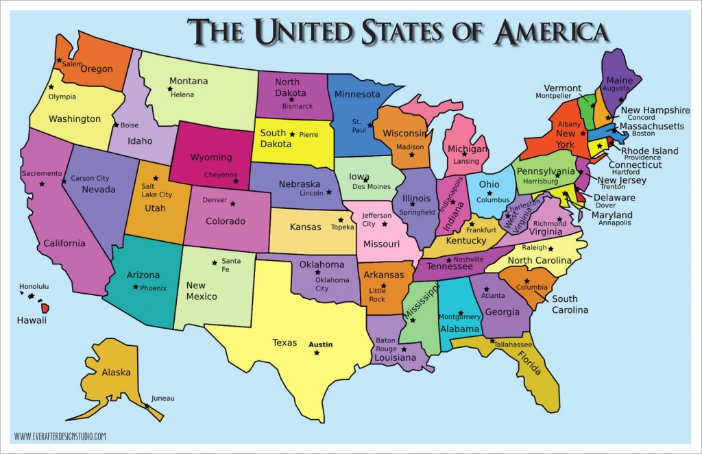 Us Maps States And Capitals - Topnfljerseysview - Printable States And Capitals Map