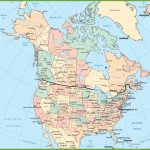 Usa And Canada Map   Printable Map Of Canada With Cities