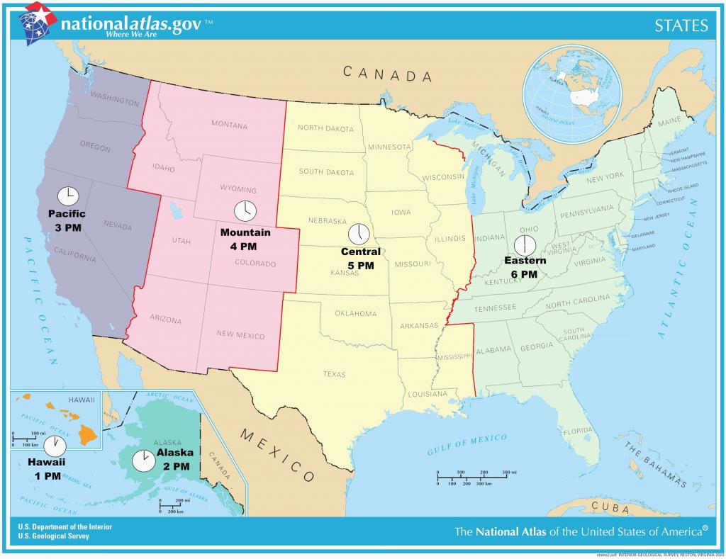 Usa Full Size Map - Hepsimaharet - Usa Time Zone Map Printable