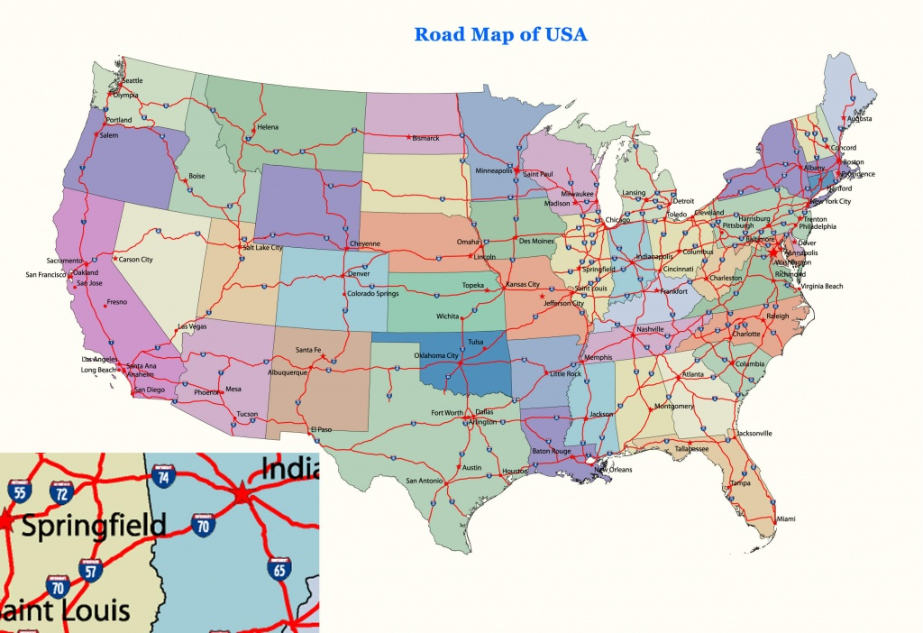 Usa Map Roads And Travel Information | Download Free Usa Map Roads - Free Printable Road Maps Of The United States