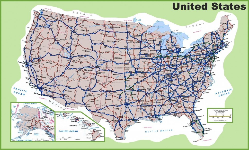 Usa Road Map - Free Printable Us Map With Cities