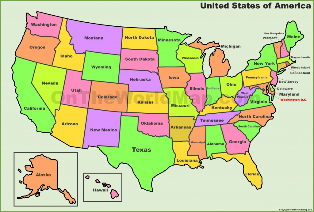 Usa States Map | List Of U.s. States | Where To Go ? What To See - Printable 50 States Map