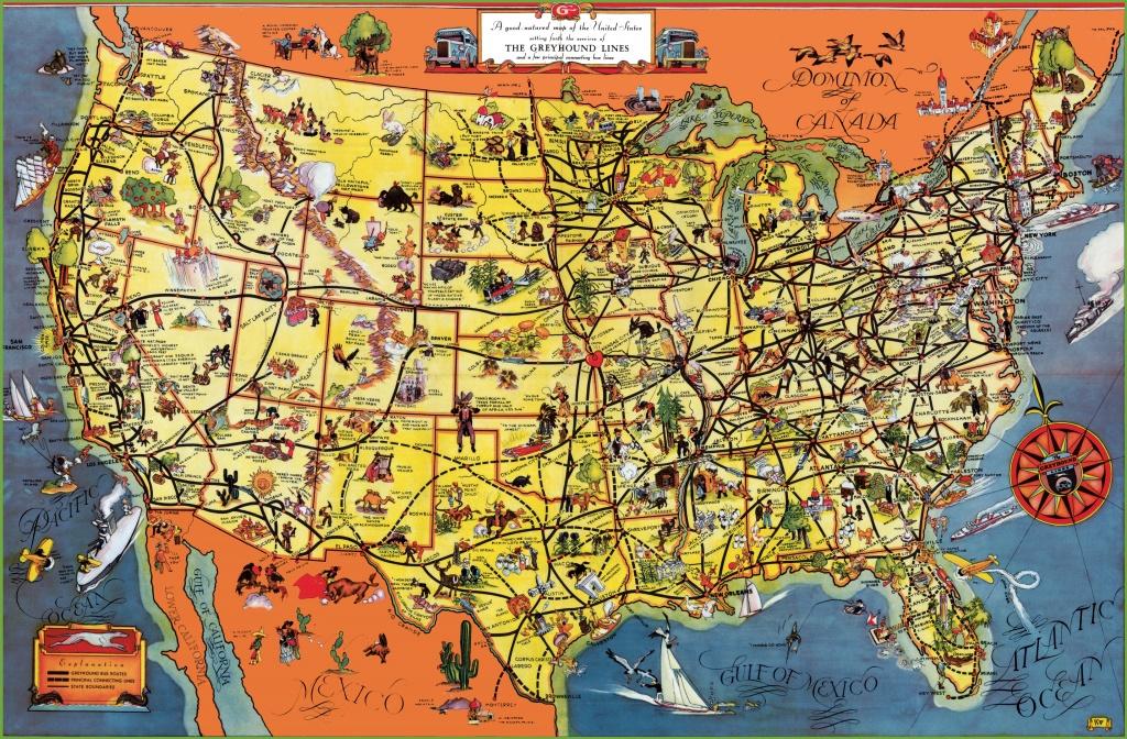 Usa Tourist Map - Texas Sightseeing Map