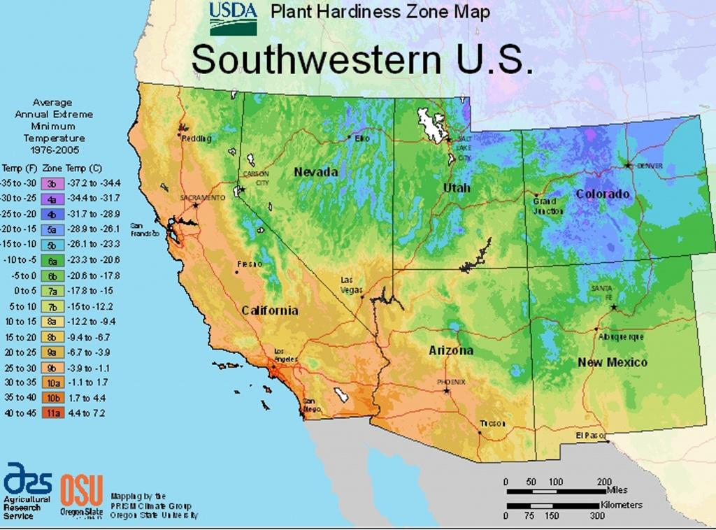 Usda Plant Hardiness Zone Mapsregion - California Heat Zone Map