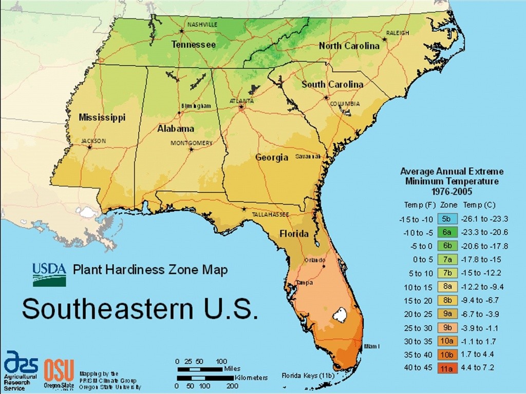 Usda Plant Hardiness Zone Mapsregion - Florida Growing Zones Map