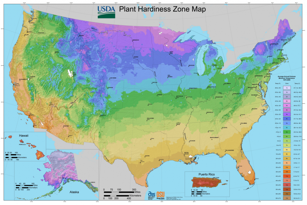 Usda Planting Zones For The U.s. And Canada | The Old Farmer's Almanac - Texas Hardiness Zone Map