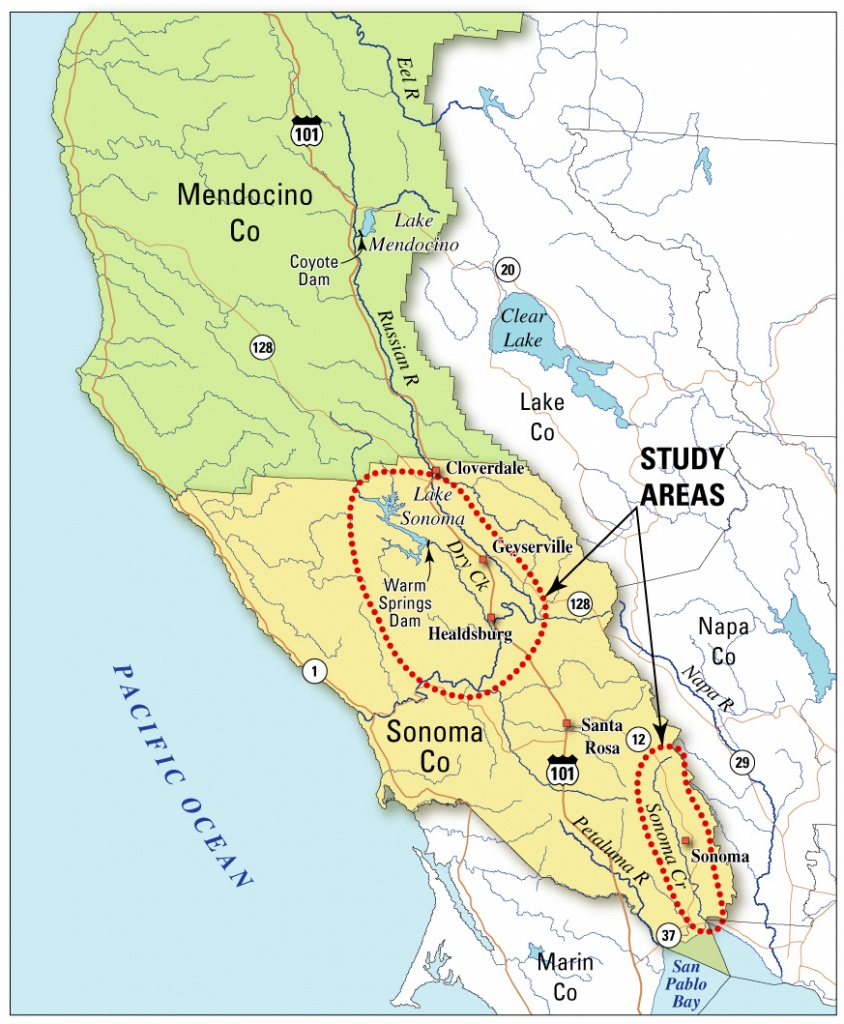 Usgs California Water Science Center - Water Resources Availability - Map Of Sonoma California Area
