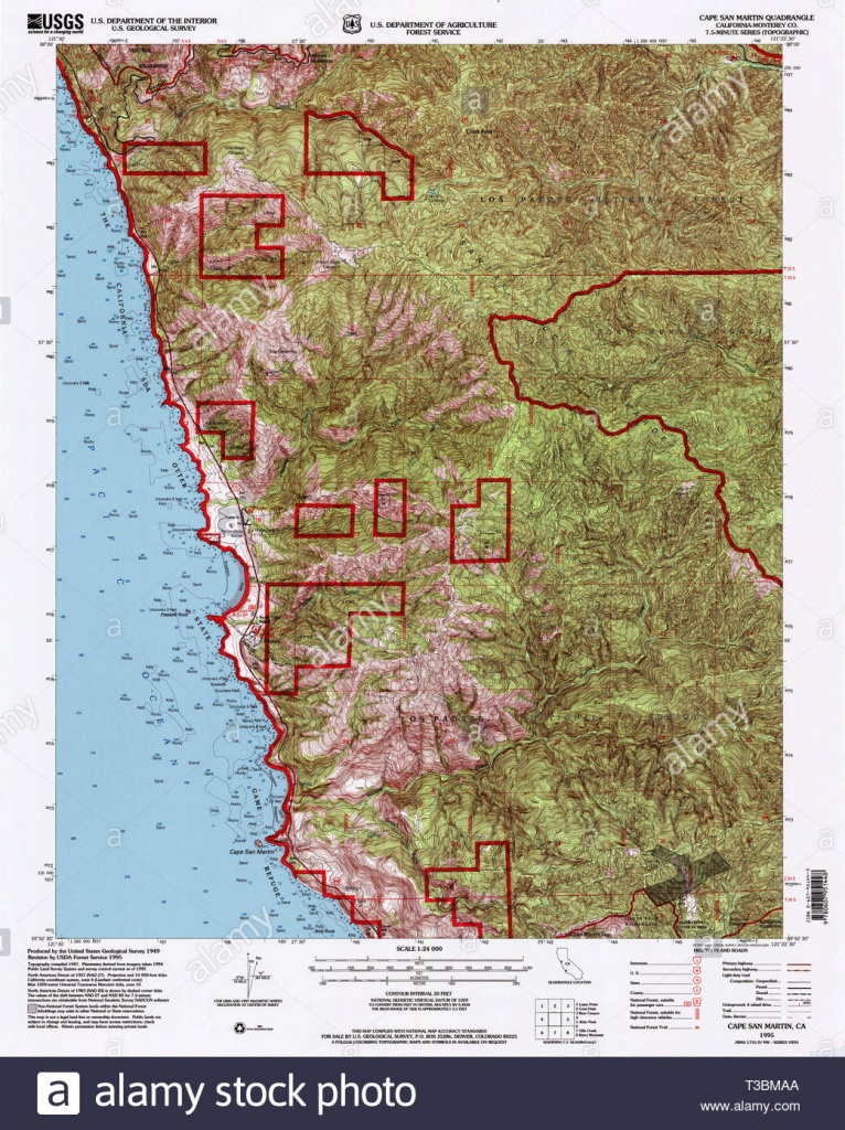 Usgs Topo Map California Ca Cape San Martin 100481 1995 24000 - San Martin California Map