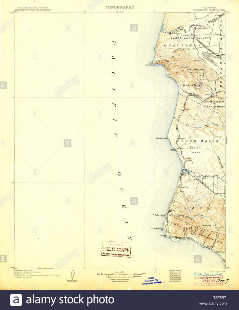 Usgs Topo Map California Ca Guadalupe 299360 1905 125000 Restoration - Guadalupe California Map