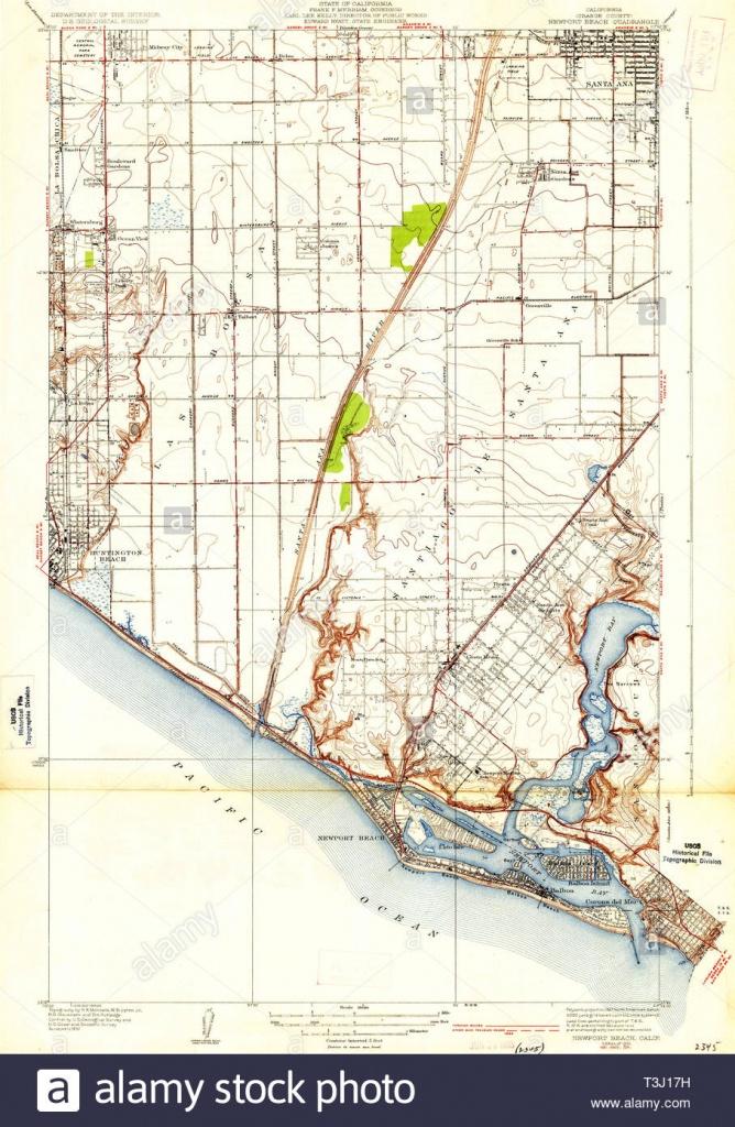 Usgs Topo Map California Ca Newport Beach 296346 1935 31680 - Newport California Map