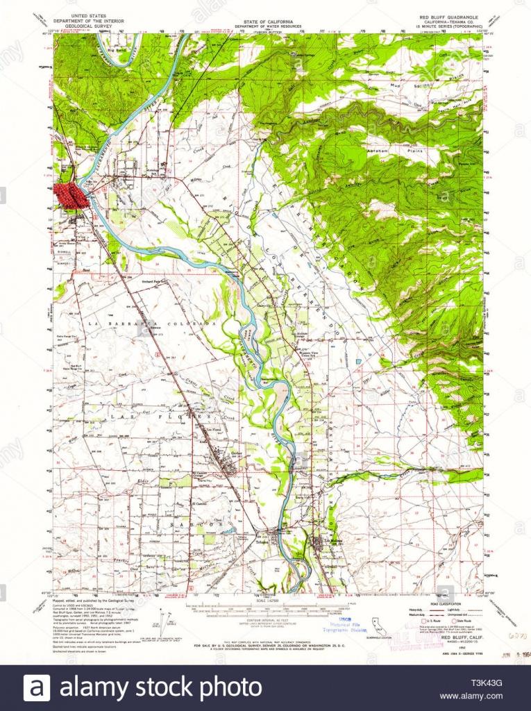 Usgs Topo Map California Ca Red Bluff 298729 1952 62500 Restoration - Red Bluff California Map