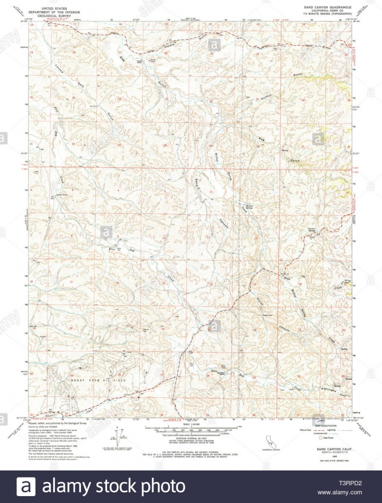 Usgs Topo Map California Ca Sand Canyon 295061 1965 24000 - National Geographic Topo Maps California