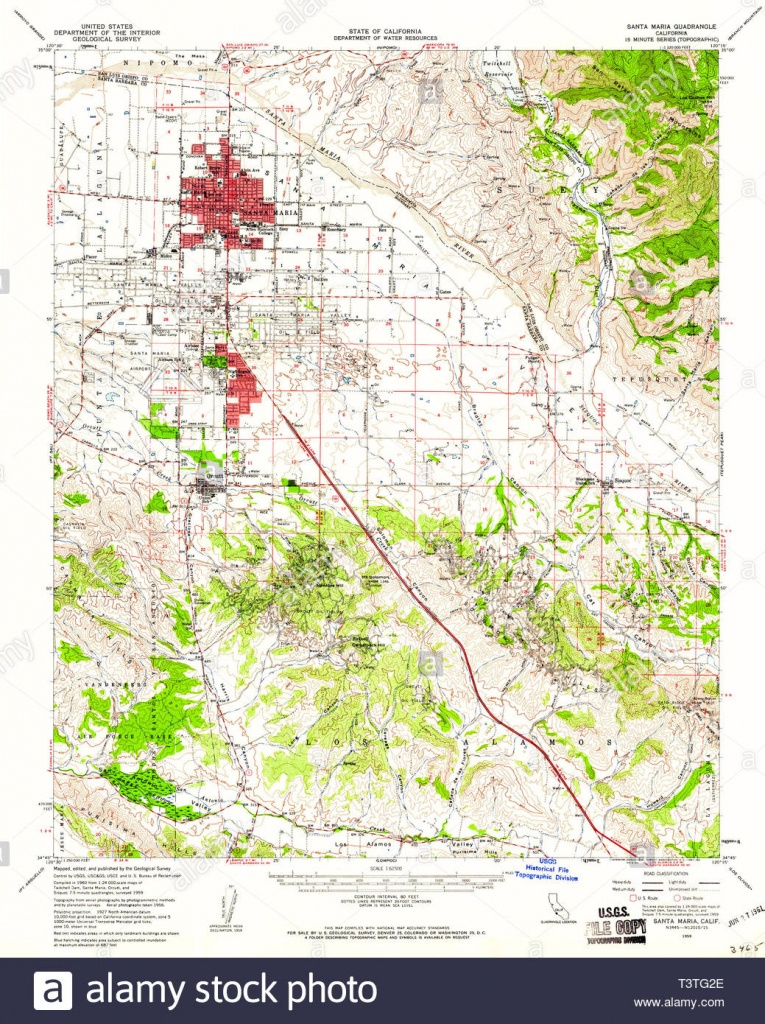 Usgs Topo Map California Ca Santa Maria 301618 1959 62500 - Santa Maria California Map