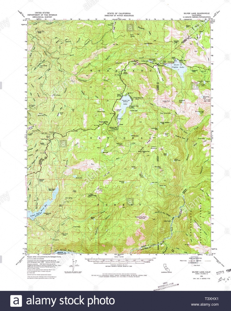 Usgs Topo Map California Ca Silver Lake 301726 1956 62500 - Silver Lake California Map