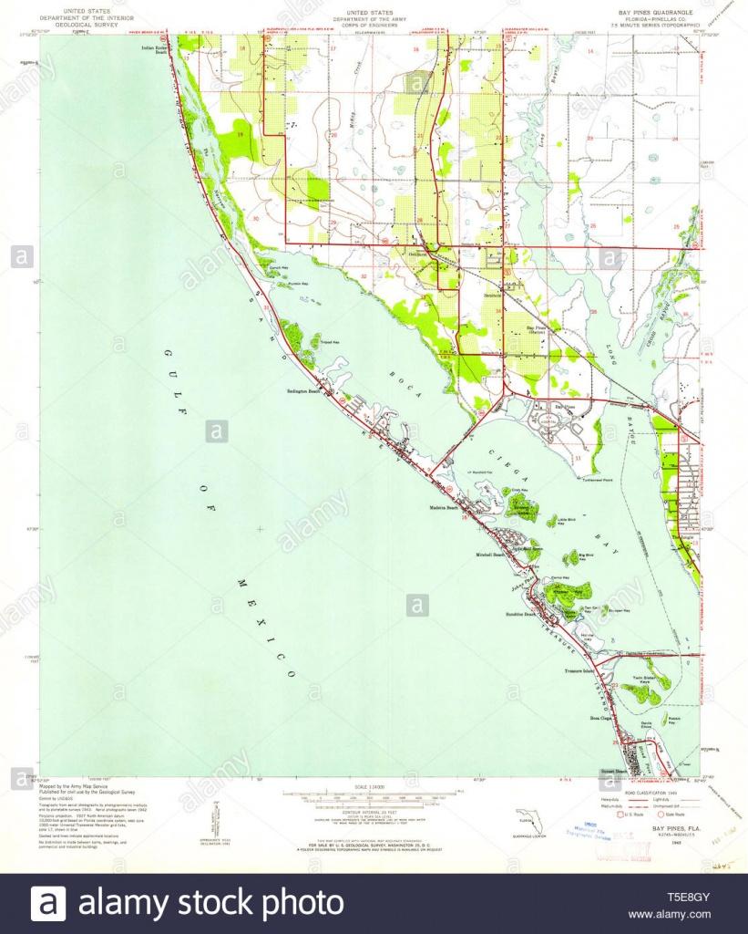 Usgs Topo Map Florida Fl Bay Pines 345089 1943 24000 Restoration - Bay Pines Florida Map
