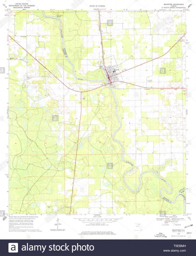 Usgs Topo Map Florida Fl Branford 345301 1968 24000 Restoration - Branford Florida Map