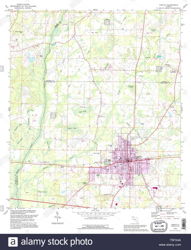 Usgs Topo Map Florida Fl Chipley 345497 1994 24000 Restoration Stock - Map Chipley Florida