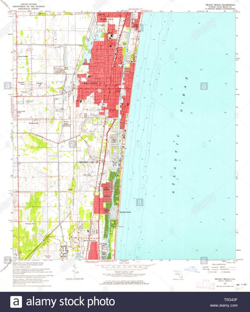 Usgs Topo Map Florida Fl Delray Beach 345827 1962 24000 Restoration - Highland Beach Florida Map