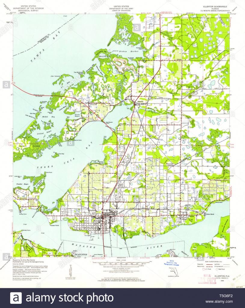 Usgs Topo Map Florida Fl Ellenton 345992 1944 24000 Restoration - Ellenton Florida Map