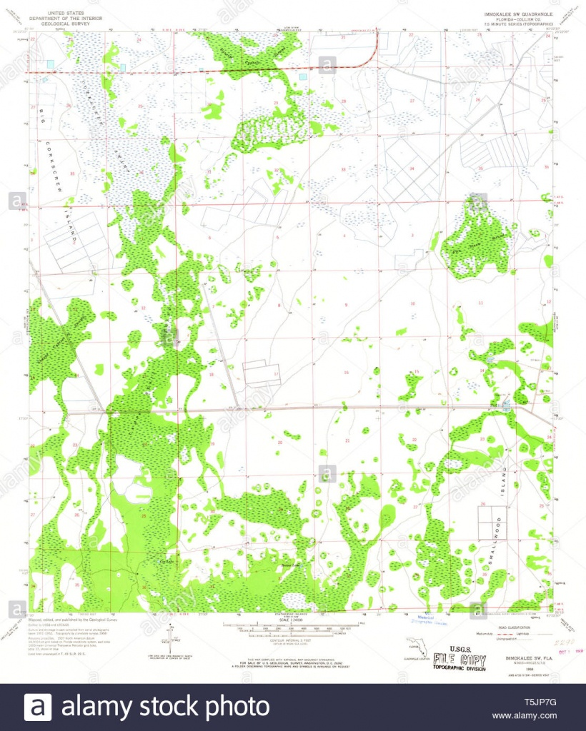 Usgs Topo Map Florida Fl Immokalee Sw 346733 1958 24000 Restoration - Immokalee Florida Map