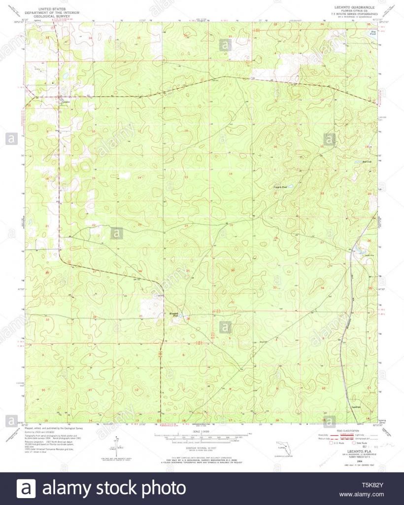 Usgs Topo Map Florida Fl Lecanto 347204 1954 24000 Restoration Stock - Lecanto Florida Map