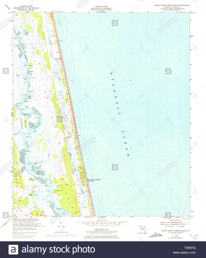 Usgs Topo Map Florida Fl South Ponte Vedra Beach 348582 1952 24000 - Ponte Vedra Florida Map