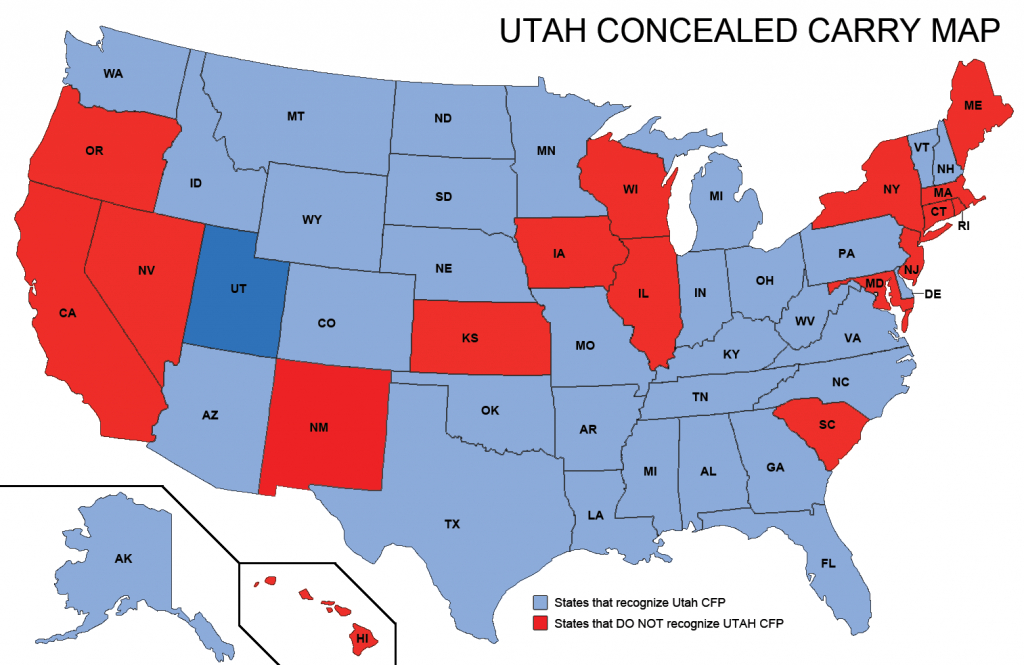Utah Concealed Weapons Permit Reciprocity Map | Misc | Concealed - Florida Concealed Carry Reciprocity Map