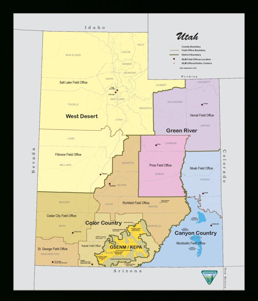 Utah - Maps   Bureau Of Land Management - Blm Shooting Map Southern California